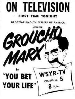 GrouchoMarx_YBYL_TV_1950_10_05_Thur_CarricatureAdvert