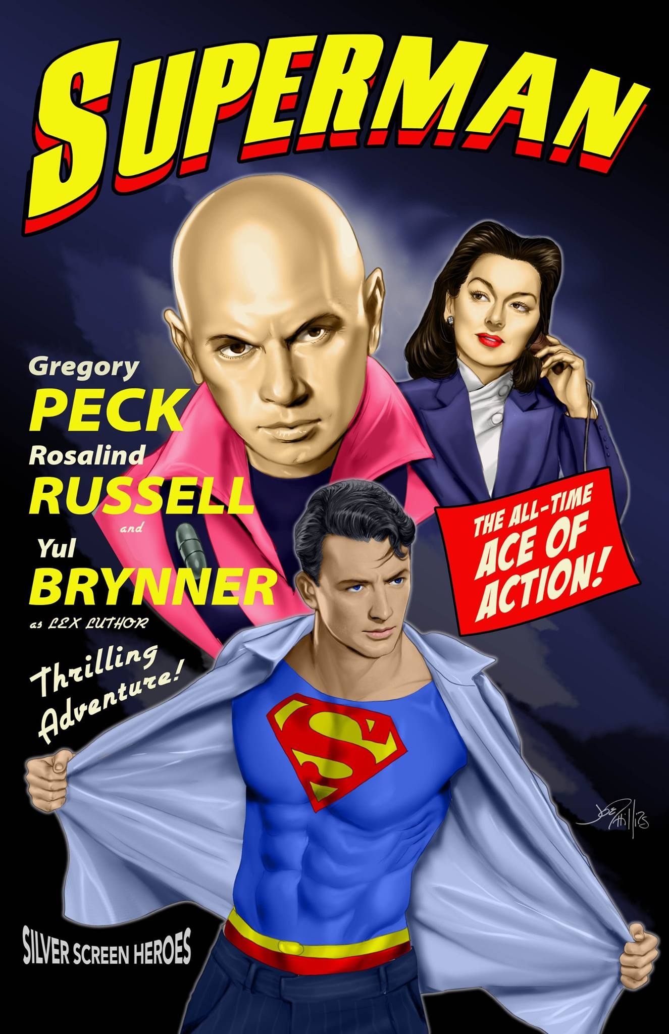 Pow Classic Film Stars Reimagined As Comic Book Heroes