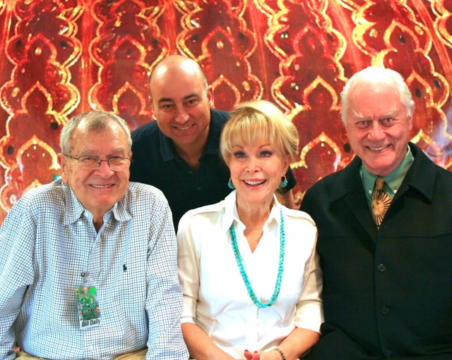 October, 2010 - In Jeannie's bottle with Bill Daily (Roger), Barbara Eden, and Larry Hagman.