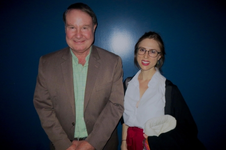Ron Hutchinson with the granddaughter of Vaudevillian Zelda Santley at Film Forum on Oct 25 (photo by Will)